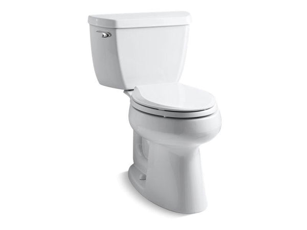 Kohler 3658-0 Highline® Classic Comfort Height® two-piece elongated 1.28 gpf toilet with Class Five® flush technology and left-hand trip lever, seat not included-Toilets-HomePlumbing