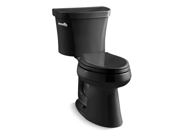 Kohler 3949-T-7 Highline® Comfort Height® two-piece elongated 1.28 gpf toilet with Class Five® flush technology, left-hand trip lever and tank cover locks, seat not included-Toilets-HomePlumbing