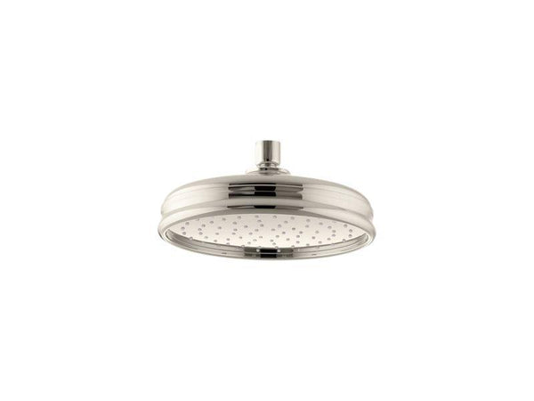 Kohler 13692-SN 8 Traditional Round 2.5 gpm rainhead with Katalyst® air-induction technology-Rainheads-HomePlumbing