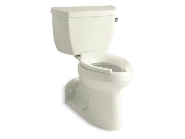Kohler 3578-RA-96 Barrington(TM) Comfort Height two-piece elongated 1.0 gpf toilet with Pressure Lite flushing technology and right-hand trip lever-Commercial Toilets-HomePlumbing