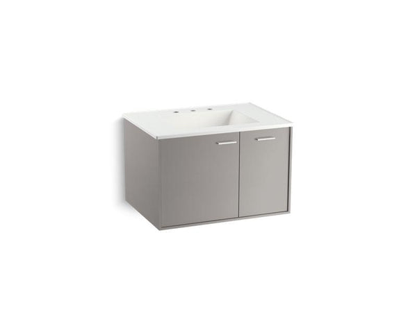 "Kohler 99541-R-1WT Jute 30"" wall-hung bathroom vanity cabinet with 1 door and 1 drawer on right-Vanities-HomePlumbing"