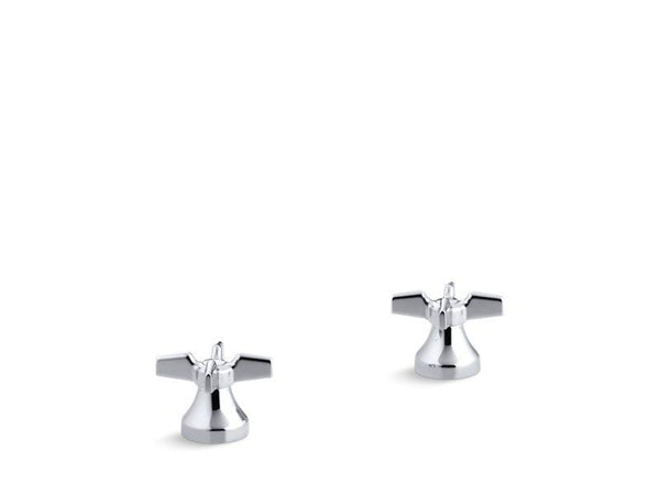 Kohler 16012-3-CP Triton® Cross handles for widespread base faucet-Sink Faucets-HomePlumbing