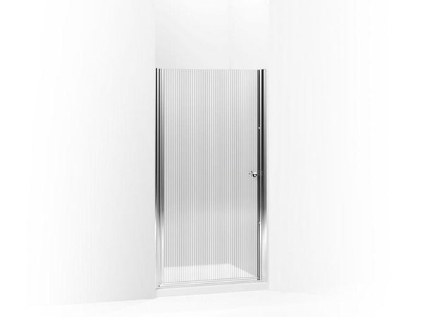 Kohler 702400-G54-SH Fluence pivot shower door, 65-1/2 H x 28-3/4 - 30-1/4 W, with 1/4 thick Falling Lines glass-Shower Doors-HomePlumbing