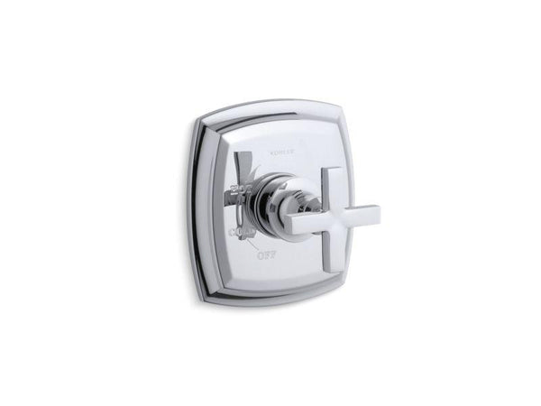 Kohler TS16235-3-CP Margaux Rite-Temp valve trim with cross handle-Handle Trim-HomePlumbing