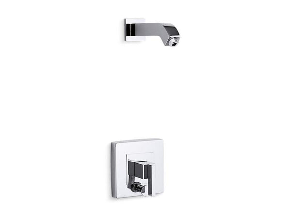 Kohler T14665-4L-CP Loure Rite-Temp shower trim set with push-button diverter, less showerhead-Shower Trim-HomePlumbing