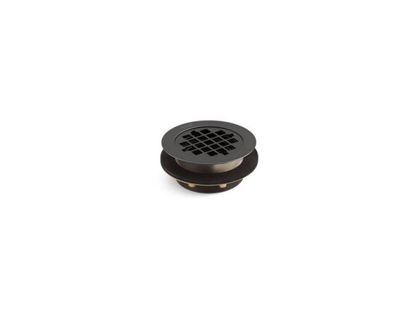 Kohler 9132-BL Round shower drain for use with plastic pipe, gasket included-Shower Fittings-HomePlumbing