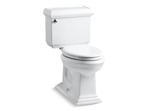 Kohler 3818-0 Memoirs Classic Comfort Height two-piece elongated 1.6 gpf toilet with AquaPiston flush technology and left-hand trip lever, seat not included-Toilets-HomePlumbing