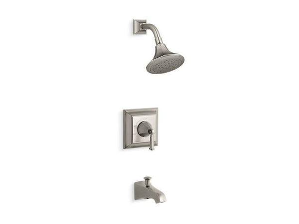 Kohler TS461-4S-BN Memoirs Stately Rite-Temp bath and shower valve trim with lever handle, spout and 2.5 gpm showerhead-Tub Shower Trim-HomePlumbing