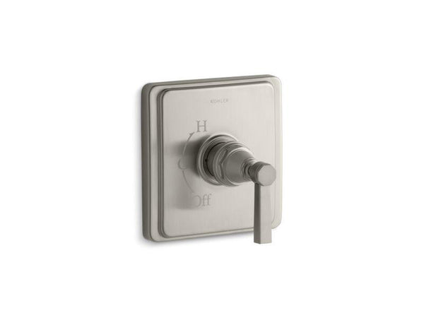 Kohler TS13135-4A-BN Pinstripe Pure Rite-Temp valve trim with lever handle-Handle Trim-HomePlumbing