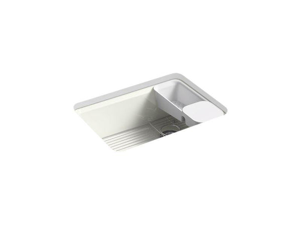 "Kohler 8668-5UA2-NY Riverby 27"" x 22"" x 9-5/8"" under-mount single-bowl kitchen sink with accessories and 5 oversized faucet holes-Kitchen Sinks-HomePlumbing"