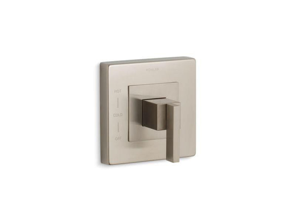 Kohler TS14671-4-BN Loure Rite-Temp valve trim with lever handle-Handle Trim-HomePlumbing