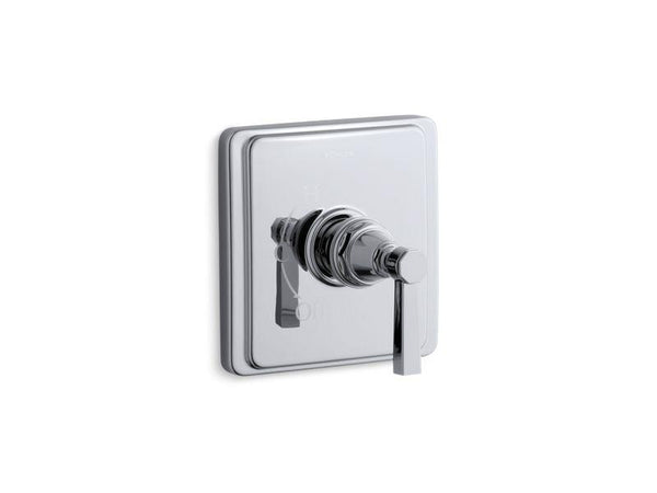 Kohler TS13135-4A-CP Pinstripe Pure Rite-Temp valve trim with lever handle-Handle Trim-HomePlumbing