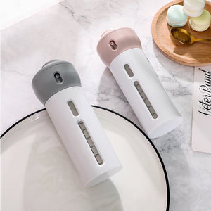 4 in 1 PORTABLE TRAVEL TOILETRIES DISPENSER