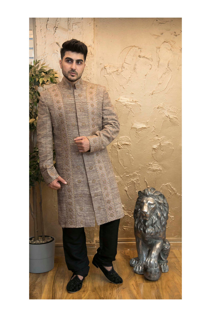Jutewood Full Embroidered Sherwani