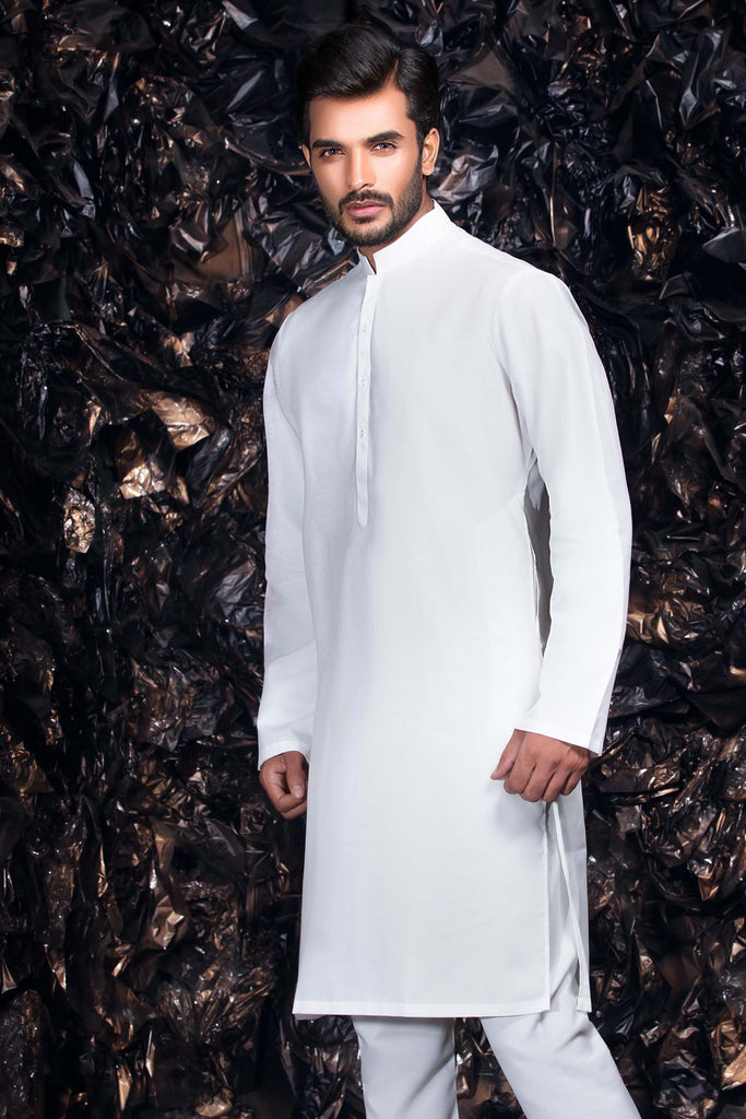 White Kurta with Trousers Bollywood Indian Mens Suit