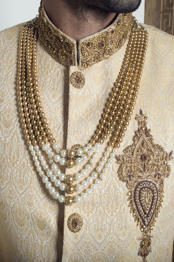 Gold and Ivory Haar Necklace