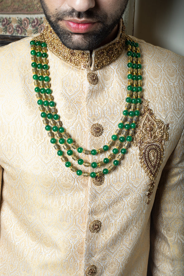 Green and Gold Haar Necklace
