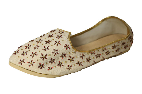 Dhamtari- White Mojri Khussa Shoes - Sherwani King - - 1