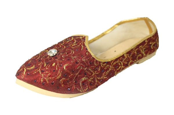 Goalpara- Red Mojri Khussa Shoes - Sherwani King - - 1