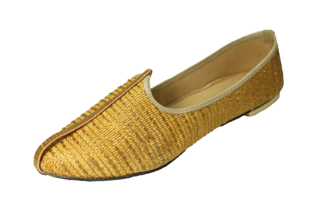 Gooky- Gold Mojri Khussa Shoes - Sherwani King - - 1