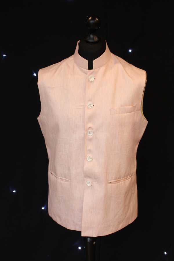 Patent Pink Indian Waistcoat