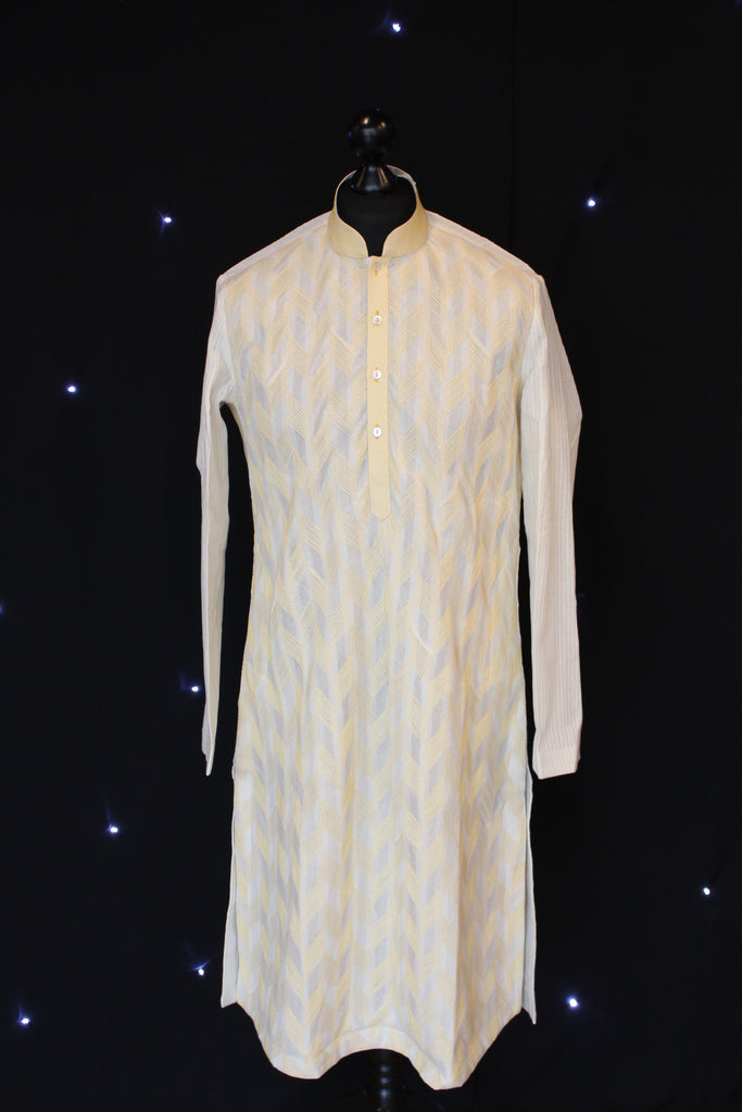 Gold Patterned Indian Kurta
