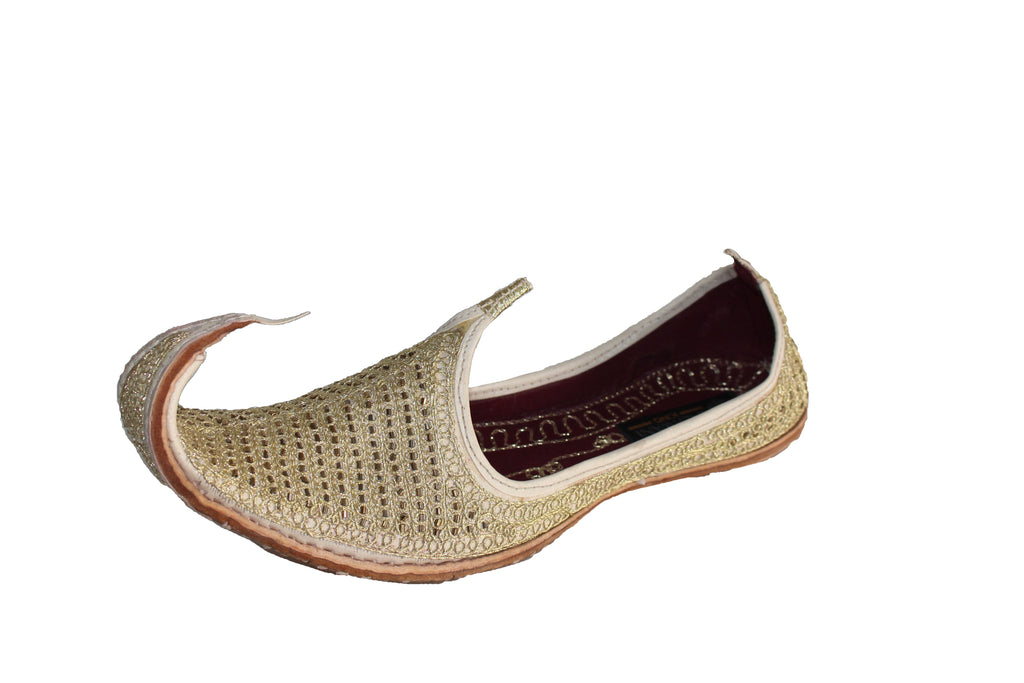 Amod- Gold Mojari Shoes