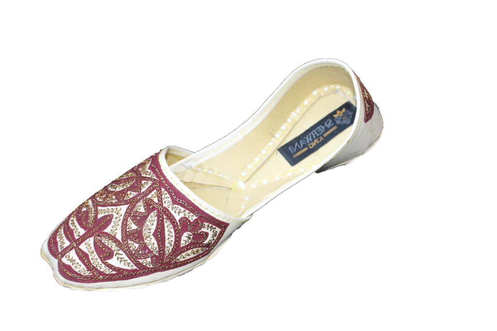 Boys Cream Mojari Khussa Shoe with Copper Embroidery - 4