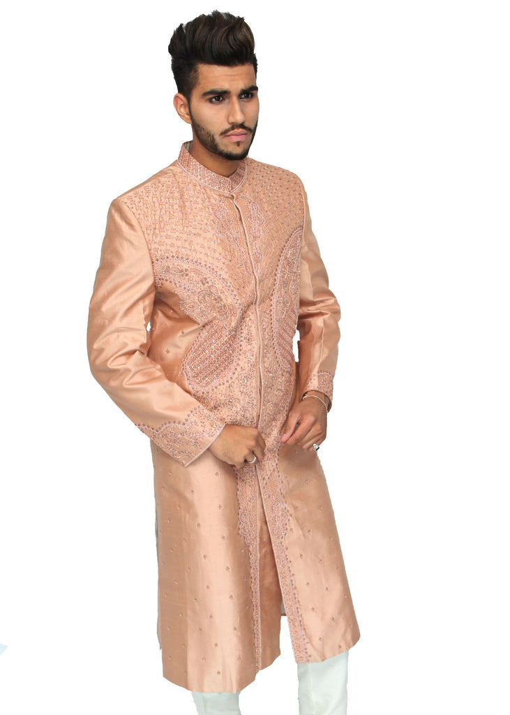 Nude Sherwani with Embrodiery