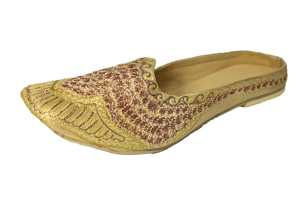 Lonavia- Gold Mojri Khussa Shoes - Sherwani King - - 1