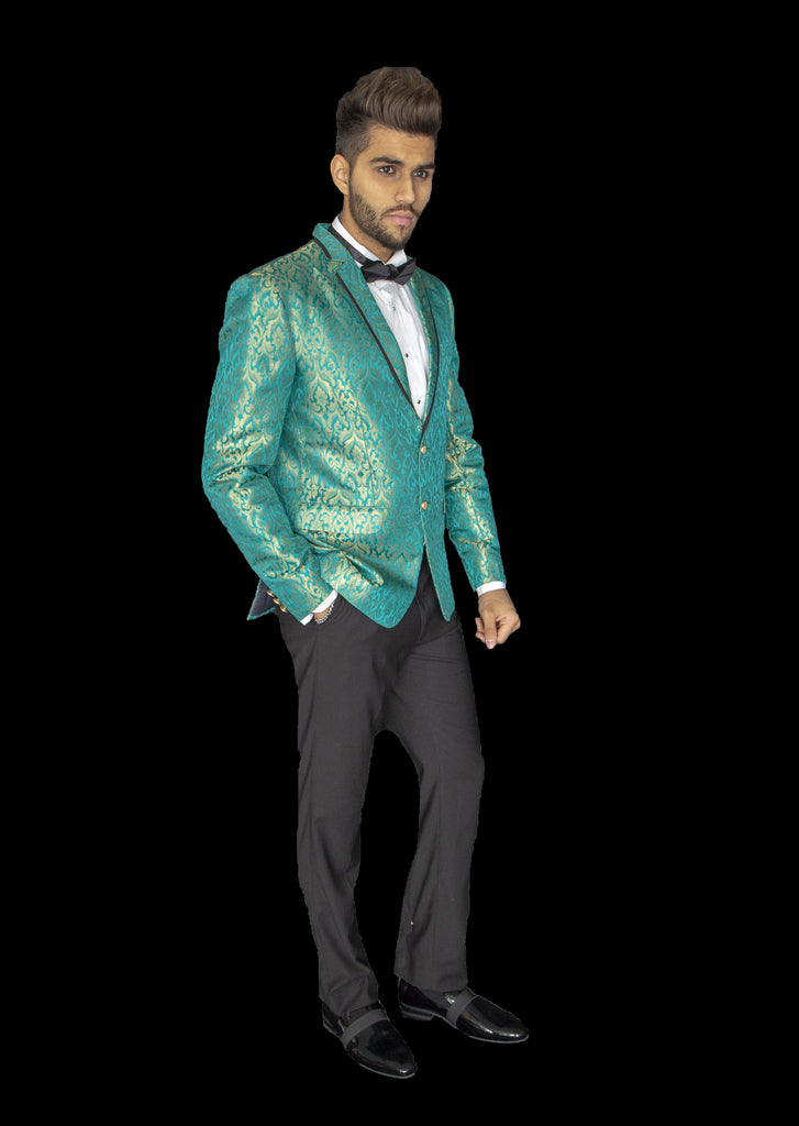 Teal and Gold Blazer