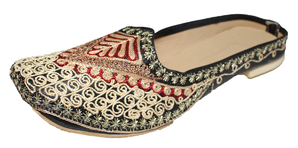Mulen - Black & Gold with Red Mojari