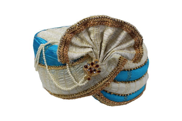 Koratla - White and Blue Kulla Hat