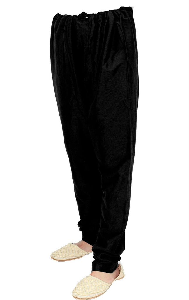 Black Churidar Trousers Pyjama for Sherwani - Kurta
