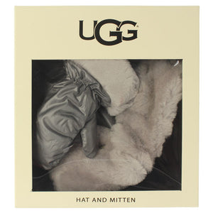 UGG 【アグ / キッズ ニット帽子&ミトン ギフトセット 15067 / FABRIC POM HAT AND MITTEN BOXED SET/KIDS NYLON SET /GRAY】