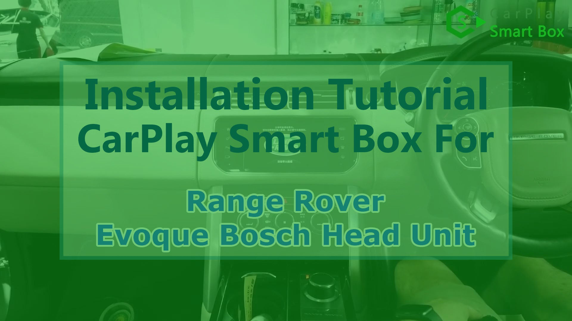 (Range Rover Bosch Head Unit) Wireless Apple CarPlay Smart Box Installation for Range Rover Evoque