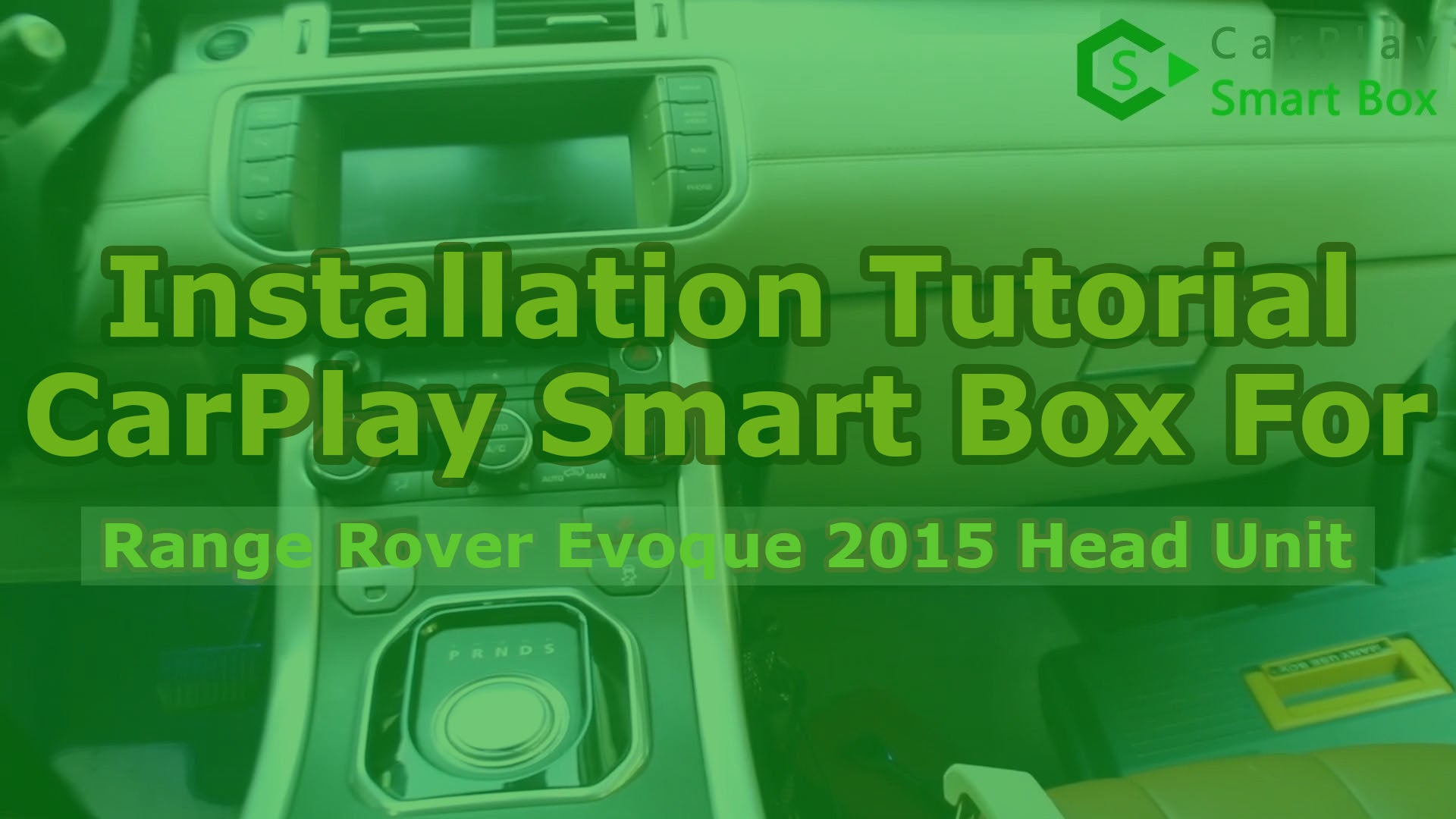 (Range Rover Evoque Bosch Head Unit) Wireless Apple CarPlay Smart Box Installation for Range Rover Evoque 2015