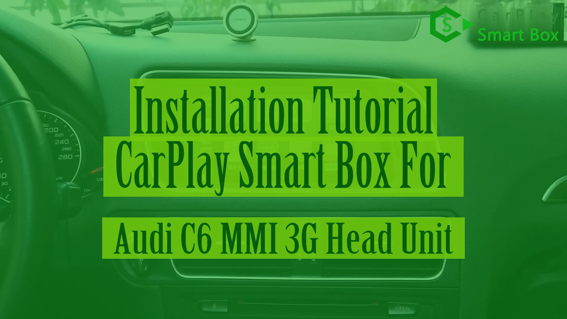 (Audi MMI 3G Head Unit) Wireless Apple CarPlay Smart Box Installation for AUDI A4 A5 Q5 MMI 3G A6 Q7 C6