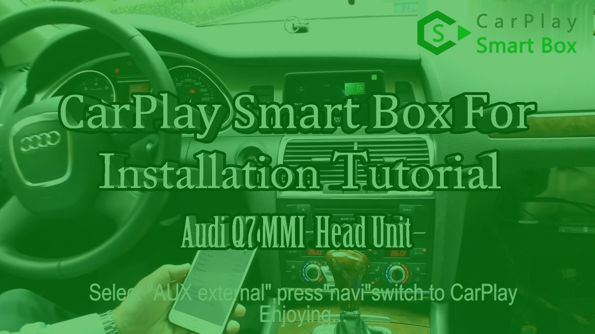 (Audi MMI Head Unit) Wireless Apple CarPlay Smart Box Installation for Audi A6 A7 A8 Q7 C6
