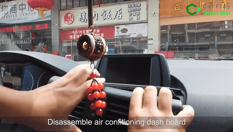 1.Disassemble air conditioning dashboard.
