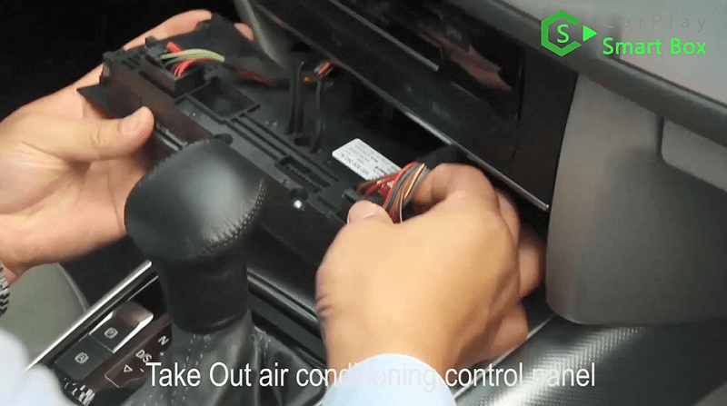 1.Take out air conditioning control panel.