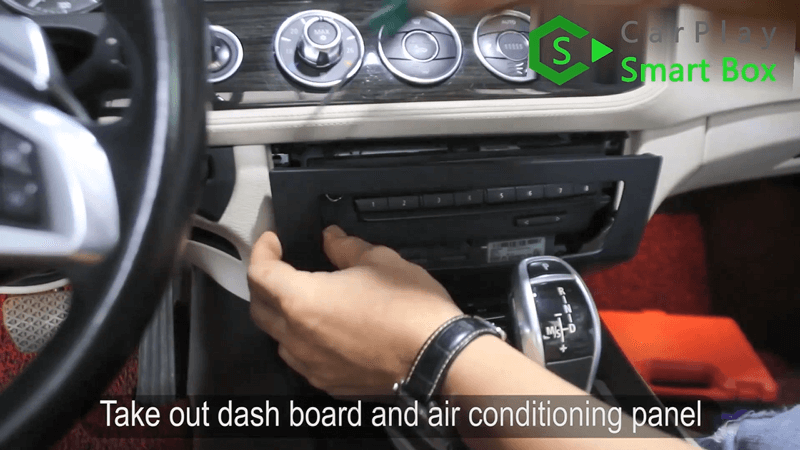 1.Take out dashboard and air conditioning panel.