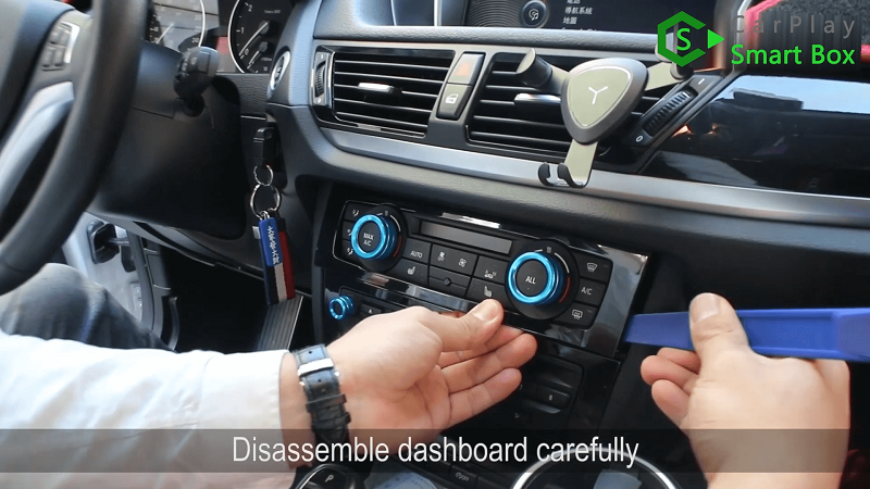 1.Disassemble dashboard carefully.