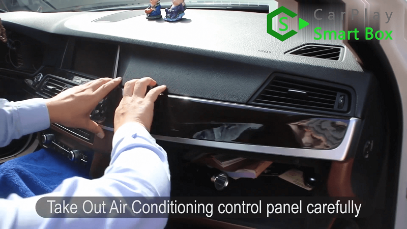 1.Take out air conditioning control panel carefully.