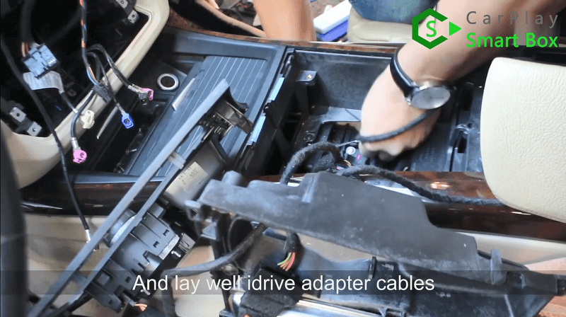 10.And lay well iDrive adapter cables.