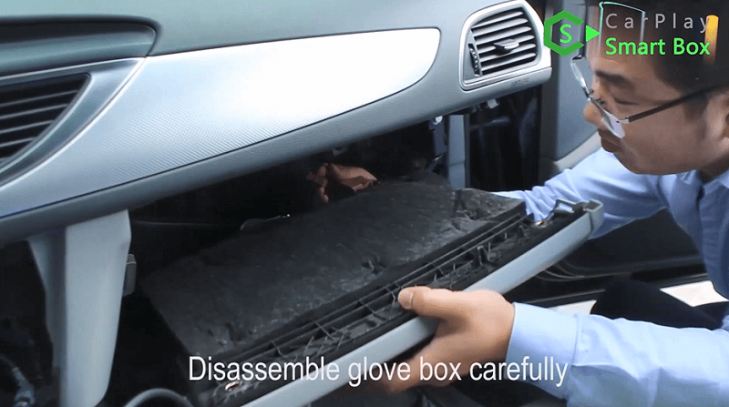 10.Disassemble glove box carefully.