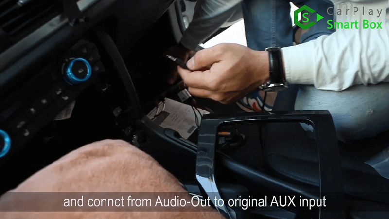 10.And connect from AUDIO-OUT to original AUX input.