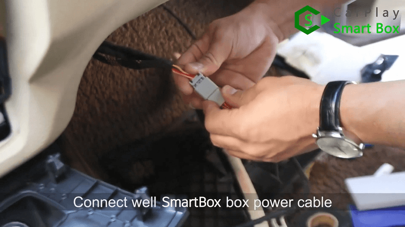 11.Connect well Smart Box box power cable.
