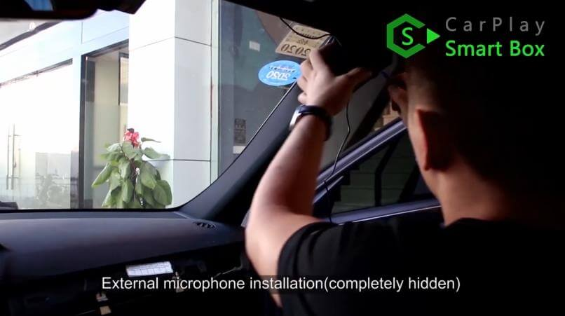12. External microphone installation - Mercedes CLS 2015 NTG5.1 HU Wireless Apple CarPlay Installation - CarPlay Smart Box