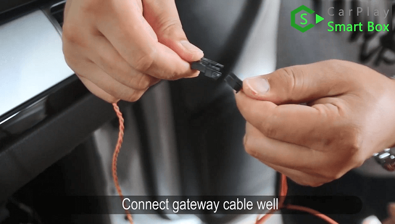 14.Connect gateway cable well.